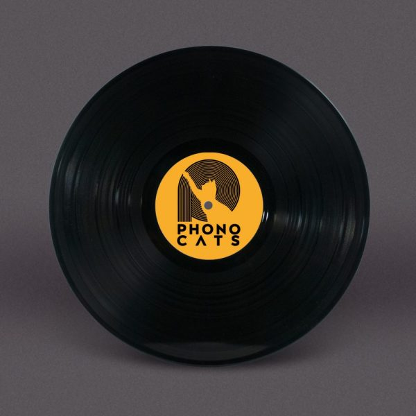 Bespoke 12-Inch Vinyl Record with Full Colour Labels (Black).