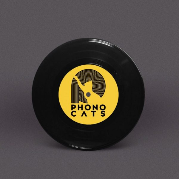 Bespoke 7-Inch Vinyl Record with Full Colour Labels (Black+small hole)